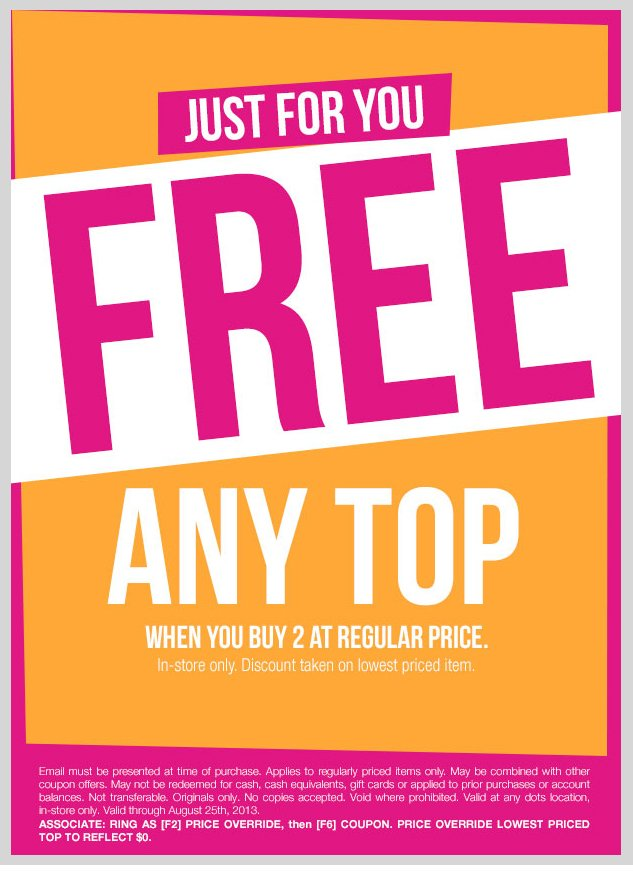 In-Store Only! Buy 2 Tops, Get 1 Top Free - equal or lesser value! SHOP NOW!