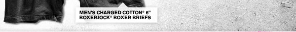 MEN'S CHARGED COTTON 6INCH BOXERJOCK® BOXER BRIEFS.
