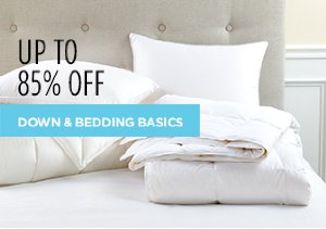 White Sale: Down & Bedding Basics Up to 85% Off