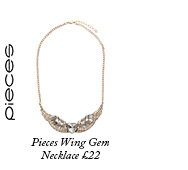 Pieces Wing Gem Necklace