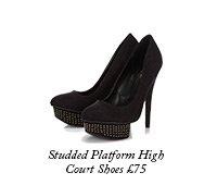 Studded Platform High Court Shoes