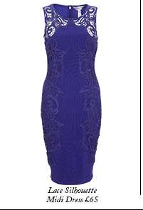 Lace Silhouette Midi Dress