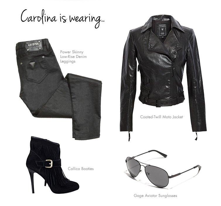 Carolina is wearing...