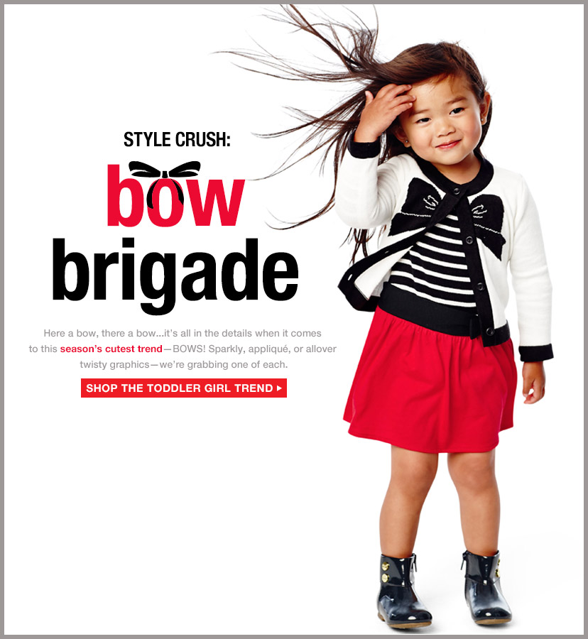 STYLE CRUSH: bow brigade | SHOP THE TODDLER GIRL TREND