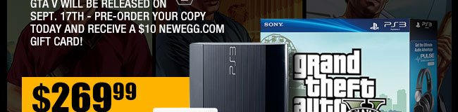 GTA V will be released on Sept. 17th - pre-order your copy today and receive a $10 Newegg.com gift card!