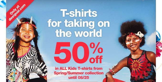 T-shirts for taking on the world 50% off
