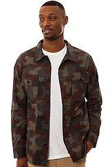 The Spray Camo BDU Jacket in Black