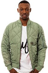 The Baron Flight Jacket in Sage