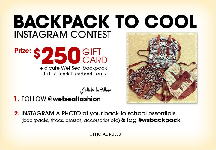 Backpack to Cool Instagram Contest