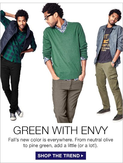GREEN WITH ENVY | SHOP THE TREND