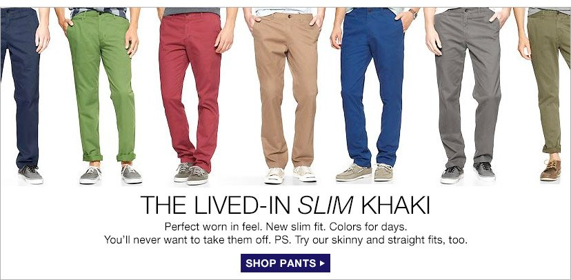 THE LIVED-IN SLIM KHAKI | SHOP PANTS