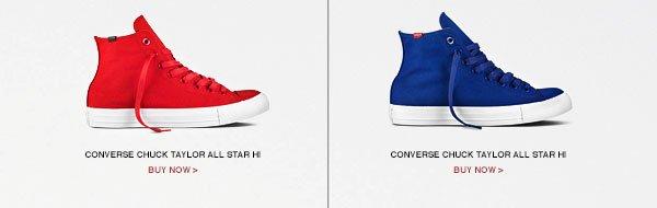 CONVERSE CHUCK TAYLOR ALL STAR HI - BLACK, TEAL, RED, BLUE