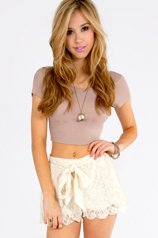 TRUE HARMONY LACE SHORTS 33