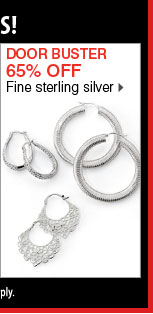 65% off Fine sterling silver