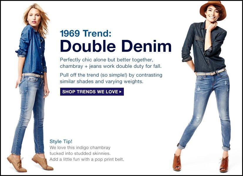 1969 Trend: Double Denim | SHOP TRENDS WE LOVE