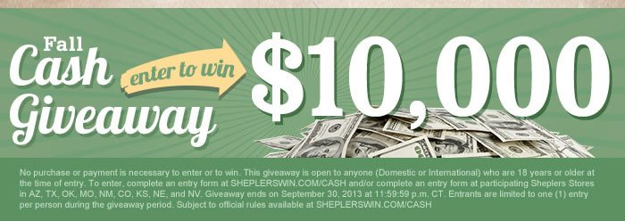 Fall Cash Giveaway