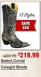 Select Corral Cowgirl Boots