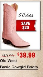 Old West Basic Cowgirl Boots