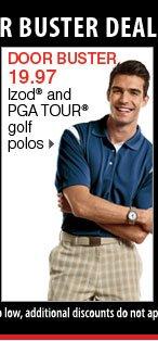 19.97 Izod® and PGA TOUR&reg golf polos