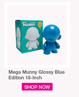 Mega MUNNY Glossy Blue.  Edition 18-inch.  Shop Now