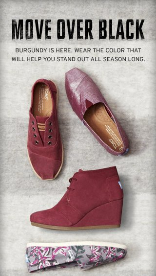 Move over Black. Burgundy is here.