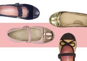 Little Trendsetter: Girls' Cap Toe Flats