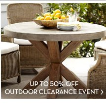 UP TO 50% OFF OUTDOOR CLEARANCE EVENT
