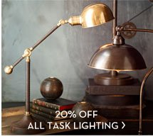 20% OFF ALL TASK LIGHTING