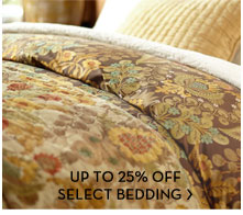 UP TO 25% OFF SELECT BEDDING