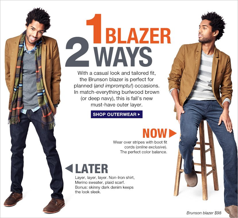 1 BLAZER 2 WAYS | SHOP OUTERWEAR