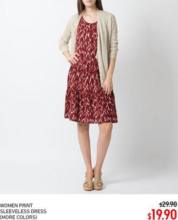 WOMEN PRINT DRESS