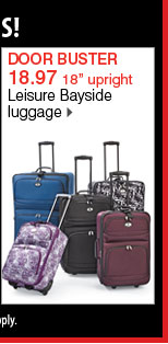 18.97 18 inch upright Leisure Bayside luggage