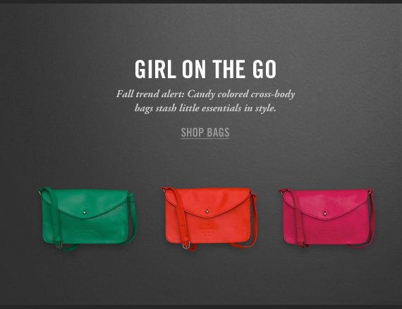 GIRL ON THE GO SHOP  BAGS