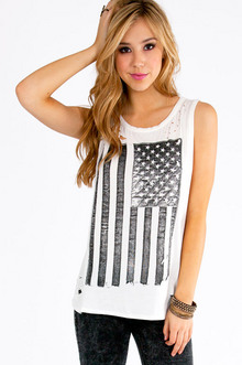AMERICAN FLAG LONG TANK TOP 29