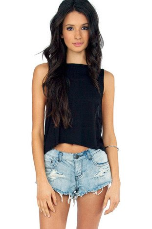 WILSHIRE LOW WAISTED DENIM SHORTS 30
