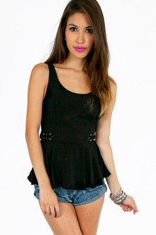LORRAINE LACED SIDE TANK TOP 32