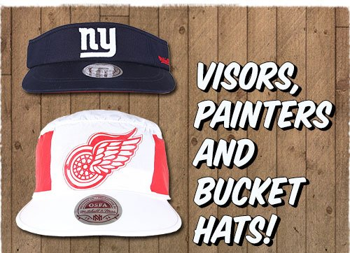 Visors, Painters and Bucket Hats