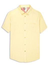 Plectrum Short Sleeve Twisted Yarn Shirt