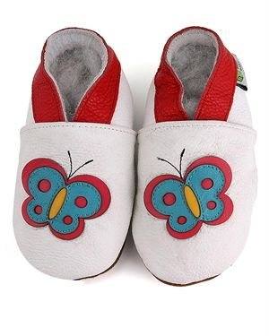 Augusta Leather Butterfly Girl's Pram Shoes