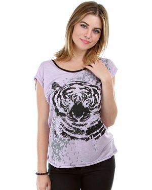 Green Apple Tiger Print T-shirt Made in USA