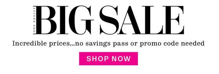 Big Sale. Shop Now.