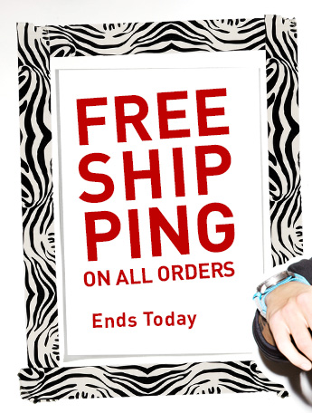 FREE SHIPPING ON ALL ORDERS ENDS TODAY