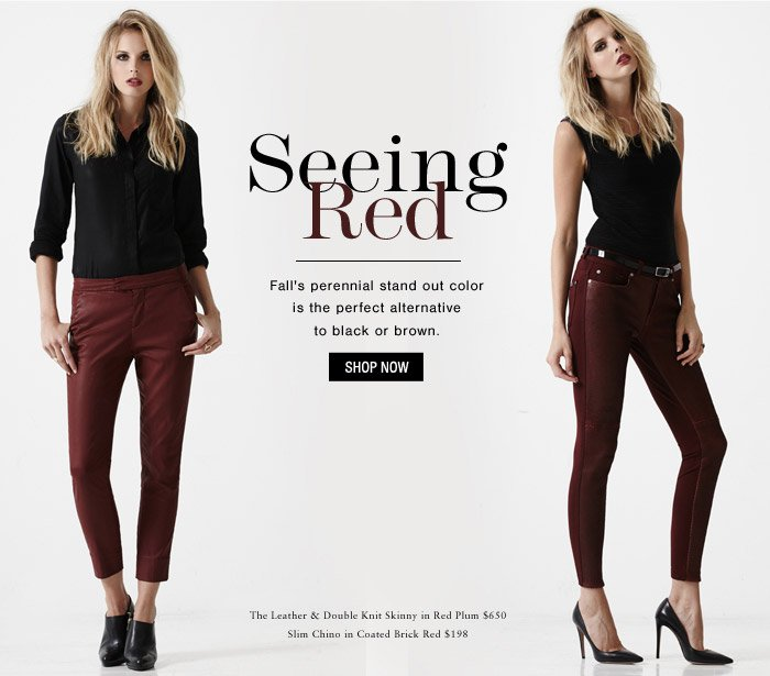 Seeing Red | Fall's HOT Color