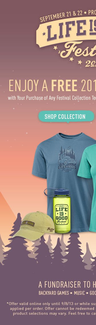 Buy a Festival Tee and Get a Free Festival Tote Bag - Enter the Code FEST13 at Checkout