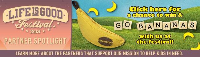 Life is good Festival Partner Spotlight - Bananagrams