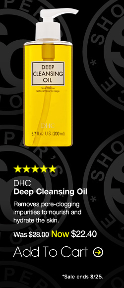 DHC Deep Cleansing Oil Shopper's Choice. Paraben-free. 5 Stars  Removes pore-clogging impurities to nourish and hydrate the skin.  $28.00 Add To Cart>>
