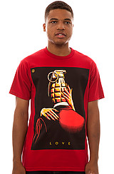 Obey Love is the Drug Tee in Red