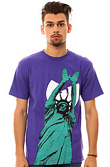 Wu Brand Limited Wu Liberty Tee in Purple
