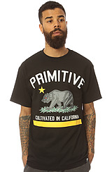 Primitive Cultivated Tee in Black Yellow