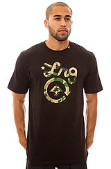 LRG Lifted Panda Camo Tee in Black